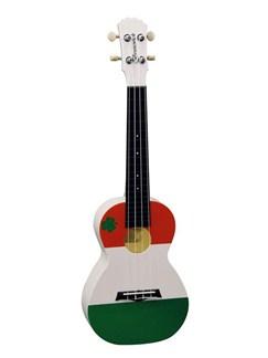 Brunswick Plastic ABS Concert Ukulele: Irish Flag Instruments | Ukulele