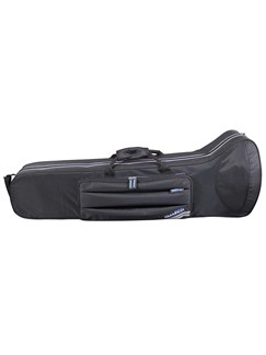 Barnes & Mullins: Champion Trombone Case - Black With Blue Trim  | Trombone