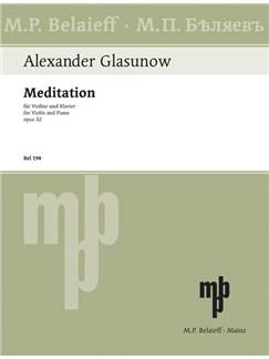Alexander Glasunow: Meditation Op. 32 Books | Violin, Piano Accompaniment