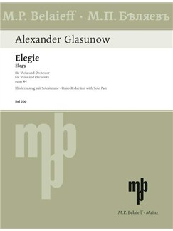 Alexander Glasunow: Elegie Op. 44 For Viola Books | Viola