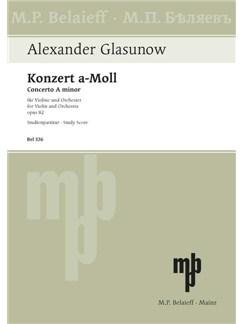 Alexander Glasunow: Violinkonzert A-Moll Op. 82 Books | Violin, Orchestra