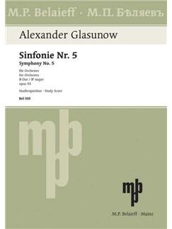 Alexander Glasunow: Sinfonie Nr. 5 B-Dur Op. 55 Books | Orchestra