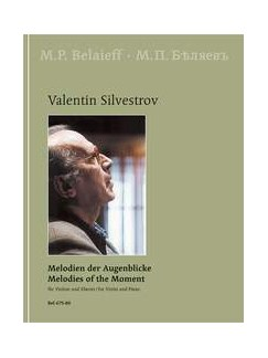Valentin Silvestrov: Melodies Of The Moments - 22 Pieces In 7 Cycles Books | Violin, Piano