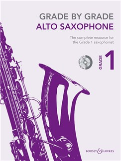 Grade By Grade Alto Saxophone: Grade 1 - Book/CD Books and CDs | Alto Saxophone