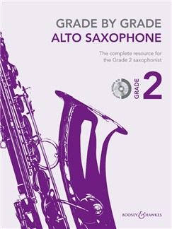 Grade by Grade Alto Saxophone: Grade 2 - Book/CD Books and CDs | Alto Saxophone