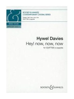 Hywel Davies: Hey! Now, Now, Now Books | SSATTBB, Choral