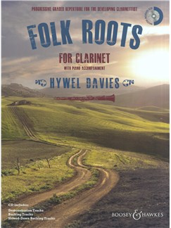 Folk Roots: For Clarinet With Piano Accompaniment Books and CDs | Clarinet, Piano Accompaniment