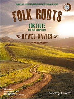 Hywel Davies: Folk Roots For Flute (Book & CD) Books and CDs | Flute