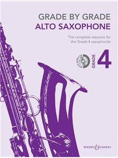 Janet Way: Grade By Grade - Alto Saxophone (Grade 4) Book/CD Books and CDs | Alto Saxophone, Piano Accompaniment