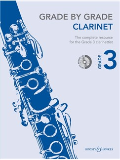 Janet Way: Grade By Grade - Clarinet (Grade 3) Book/CD Books and CDs | Clarinet, Piano Accompaniment