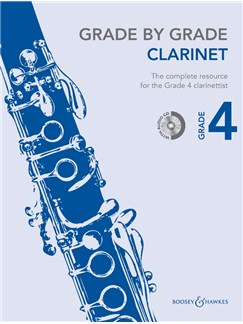 Janet Way: Grade By Grade - Clarinet (Grade 4) Book/CD Books and CDs | Clarinet, Piano Accompaniment