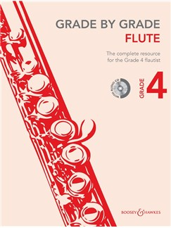 Janet Way: Grade By Grade - Flute (Grade 4) Book/CD Books and CDs | Flute, Piano Accompaniment