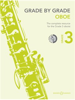 Janet Way: Grade By Grade - Oboe (Grade 3) Book/CD Books and CDs | Oboe, Piano Accompaniment