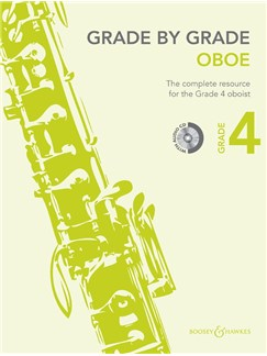 Janet Way: Grade By Grade - Oboe (Grade 4) Book/CD Books and CDs | Oboe, Piano Accompaniment