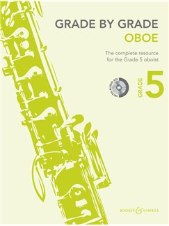 Janet Way: Grade By Grade - Oboe (Grade 5) Book/CD Books and CDs | Oboe, Piano Accompaniment
