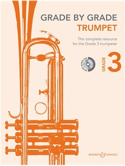 Janet Way: Grade By Grade - Trumpet (Grade 3) Book/CD Books and CDs | Trumpet, Piano Accompaniment