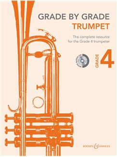 Janet Way: Grade By Grade - Trumpet (Grade 4) Book/CD Books and CDs | Piano Accompaniment, Trumpet