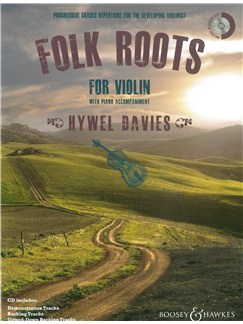 Hywel Davies:  Folk Roots For Violin Books and CDs | Violin, Piano Accompaniment