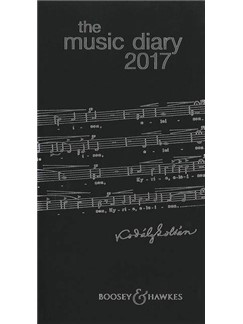 Boosey & Hawkes Music Diary 2017 - Black  |