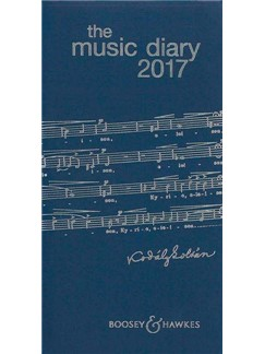 Boosey & Hawkes Music Diary 2017 - Blue  |