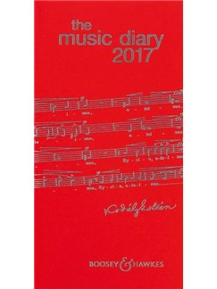 Boosey & Hawkes Music Diary 2017 - Red  |