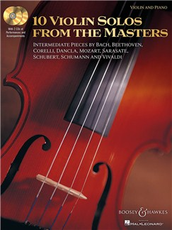 10 Violin Solos From The Masters Books and CDs | Violin, Piano Accompaniment