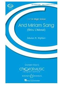 Zebulon M. Highben: And Miriam Sang (Shiru L'Adonai) Books | SSAA, Percussion