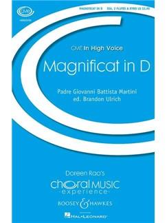 Giovanni Battista Martini: Magnificat In D Books | Flute, SSA, Piano Accompaniment