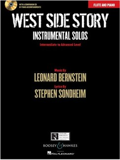 West Side Story: Instrumental Solos – Flute (Book/CD) Books and CDs | Flute, Piano Accompaniment