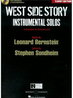 West Side Story: Instrumental Solos - Clarinet (Book/CD) Books and CDs | Clarinet, Piano Accompaniment