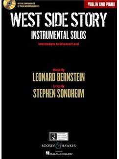 West Side Story: Instrumental Solos – Violin (Book/CD) Books and CDs | Violin, Piano Accompaniment