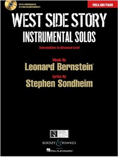 West Side Story: Instrumental Solos – Viola (Book/CD) Books and CDs | Viola, Piano Accompaniment