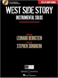 West Side Story: Instrumental Solos – Cello (Book/CD) Books and CDs | Cello, Piano Accompaniment