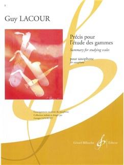 Guy Lacour: Precis Pour L'Etude Des Gammes Books | Saxophone