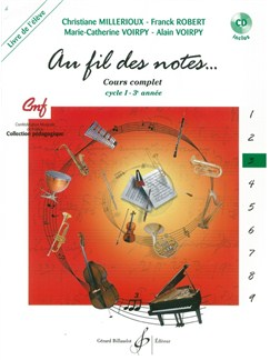 Divers Auteurs: Au Fil Des Notes Volume 3 - Livre De L'Eleve (Book/CD) Books and CDs | All Instruments