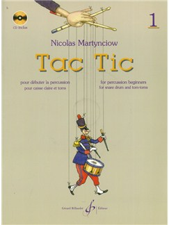 Nicolas Martynciow: Tac Tic - Volume 1 (Book/CD) Books and CDs | Percussion