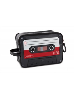 Toiletries Case - Cassette Design (Red)  |