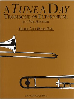 A Tune A Day For Trombone Or Euphonium Treble Clef Book One Books | Trombone, Euphonium