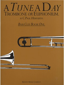 A Tune A Day For Trombone Or Euphonium Bass Clef Book One Books | Trombone, Euphonium