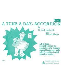 A Tune A Day For Accordion Book One Books | Accordion