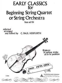 Early Classics For Beginning String Quartet Or String Orchestra Books | String Quartet