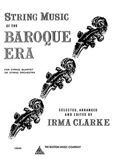 String Music Of The Baroque Era Books | String Orchestra, String Quartet