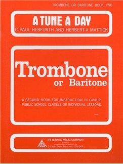 A Tune A Day For Trombone Or Euphonium Bass Clef Book Two Books | Trombone, Euphonium