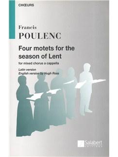 Francis Poulenc: Four Motets For The Season Of Lent Books | SATB