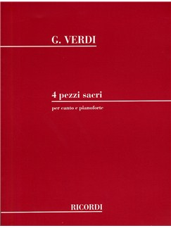 Giuseppe Verdi: 4 Pezzi Sacri (Voice and Piano) Books | SATB, Piano Accompaniment