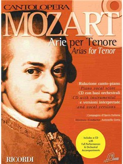 W.A. Mozart: Cantolopera - Mozart Arias For Tenor Books and CDs | Tenor, Piano Accompaniment