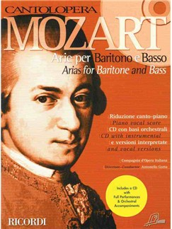 Cantolopera: Mozart Arias For Baritone Books and CDs | Baritone Voice, Piano Accompaniment