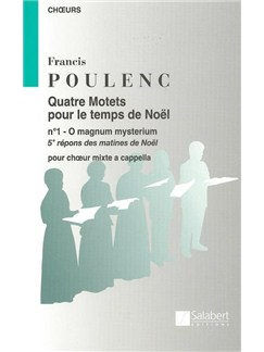 Francis Poulenc: O Magnum Mysterium (SATB) Buch | SATB (Gemischter Chor)