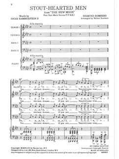 Sigmund Romberg: Stout-Hearted Men (TTBB) Books | TTBB, Piano Accompaniment