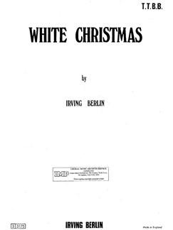 Irving Berlin: White Christmas - TTBB/Piano Books | TTBB, Piano Accompaniment